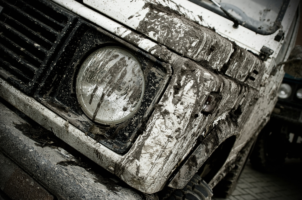 Mud on a car: the plan for the summer.